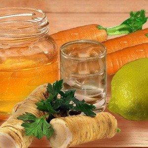 Народный рецепт от гипертонии (Мёд.Хрен.Морковь.Лимон.)
