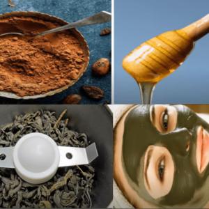 Мед, чай и какао маска от морщин