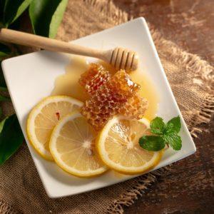 мед, лимон, мята