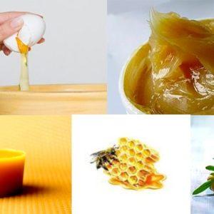 мед, яичный белок, солидол, крем