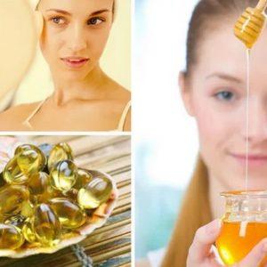 мед и рыбий жир маска