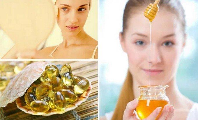 Маска от морщин (мед и рыбий жир)