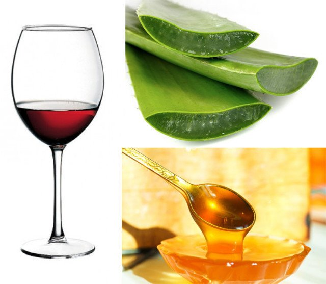 Рецепт лечебной настойки (мед, кагор, алоэ)