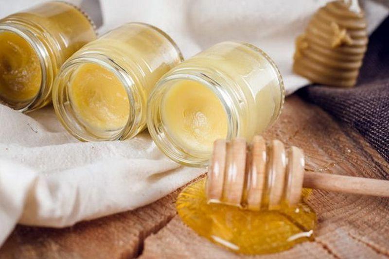 мед, воск, масло