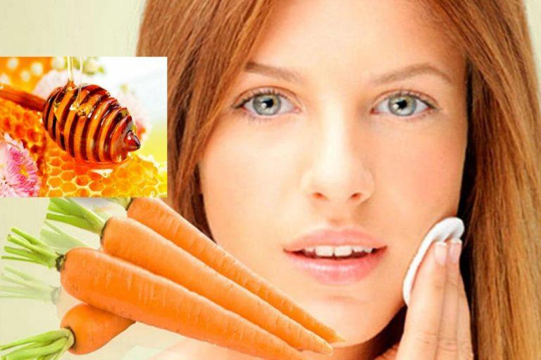 Маска для придания коже оттенка загара (мед и морковь)