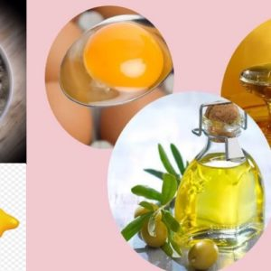 маска для волос - белая глина мед репейное масло