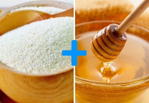Скраб для лица и тела (мед и манная крупа)