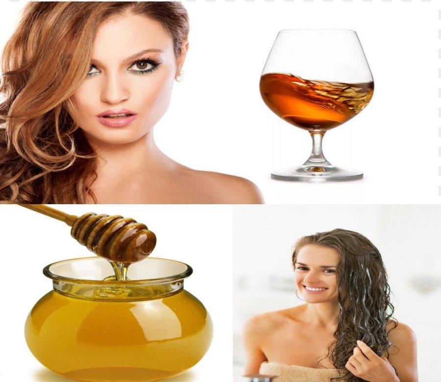 Маска для роста волос (мед, коньяк)