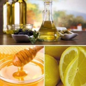 мед, оливковое масло, лимонный сок