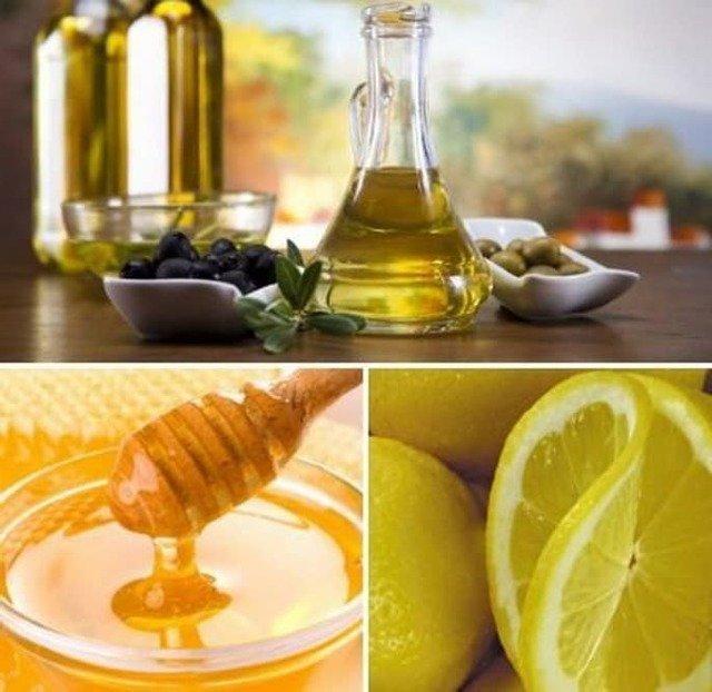 Маска, придающая волосам объем (мед, оливковое масло, лимонный сок)