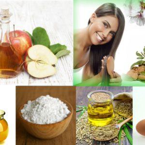 маска для блеска волос (мед, масла, уксус, белок, крахмал)