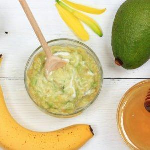 маска для тела мёд банан авокадо сливки