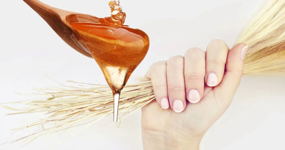 Маска для восстановления сухих и ломких волос на основе мёда