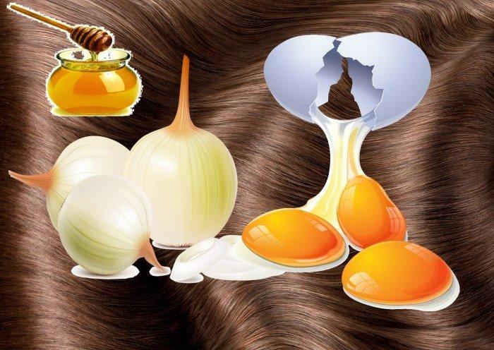 Маска для густоты волос на основе мёда