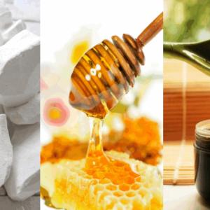 рецепт от рожи мел, деготь, мед