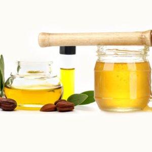 мед и масло жожоба