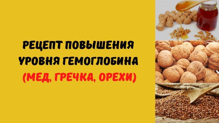 Рецепт повышения уровня гемоглобина (мед, гречка, орехи)