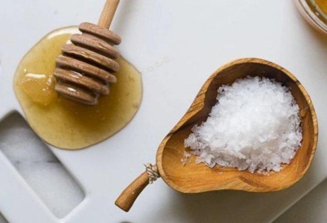Антицеллюлитная маска (мед, соль)