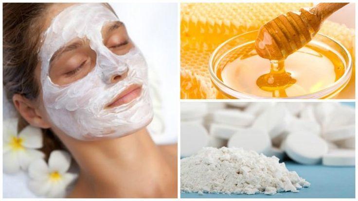 Очищающая маска для лица (мед, аспирин)