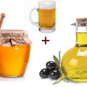 Питательная маска для лица (мед, оливковое масло, пиво)