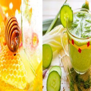 мёд и огуречный сок