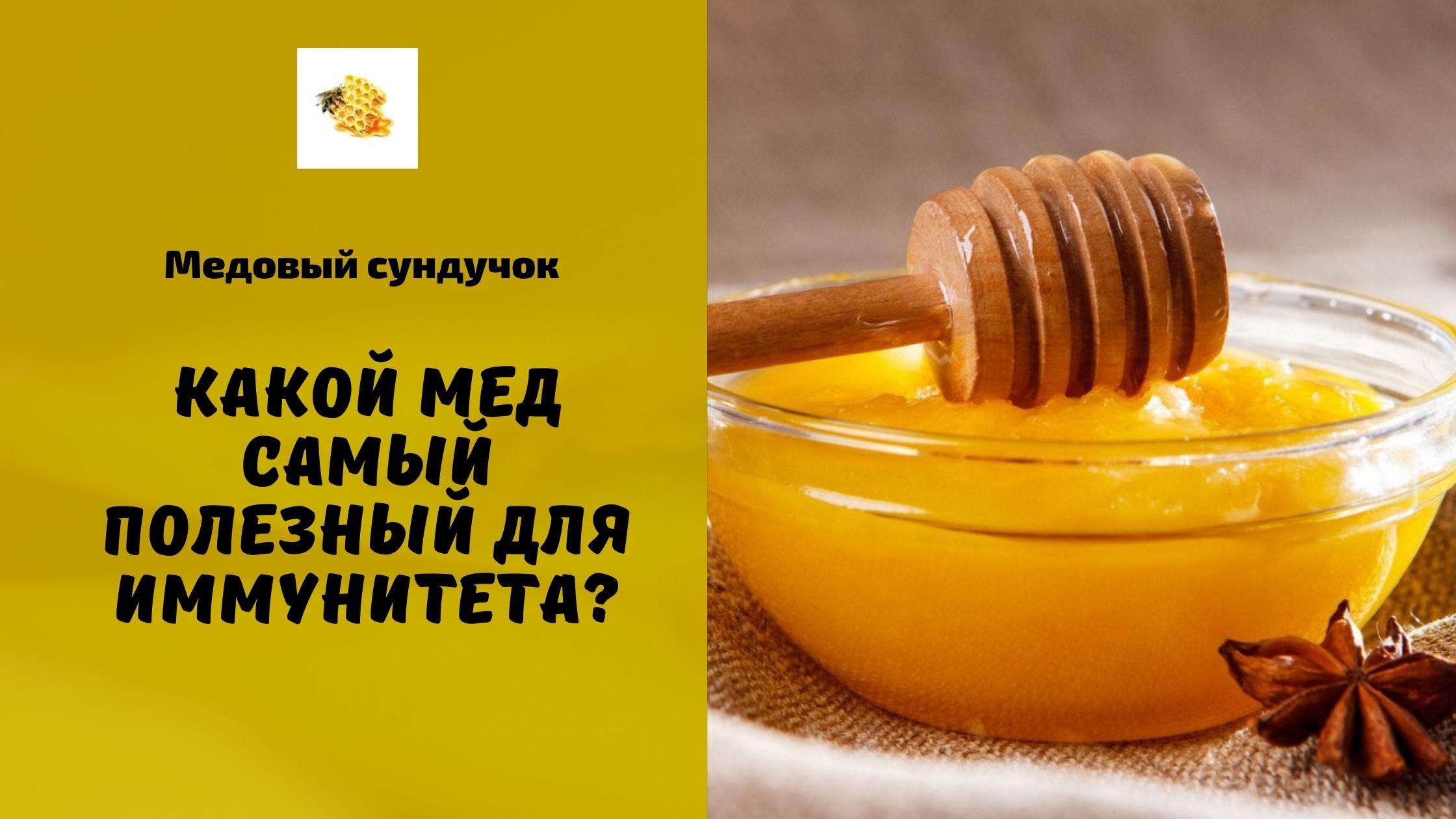 какой мед самый полезный +для иммунитета