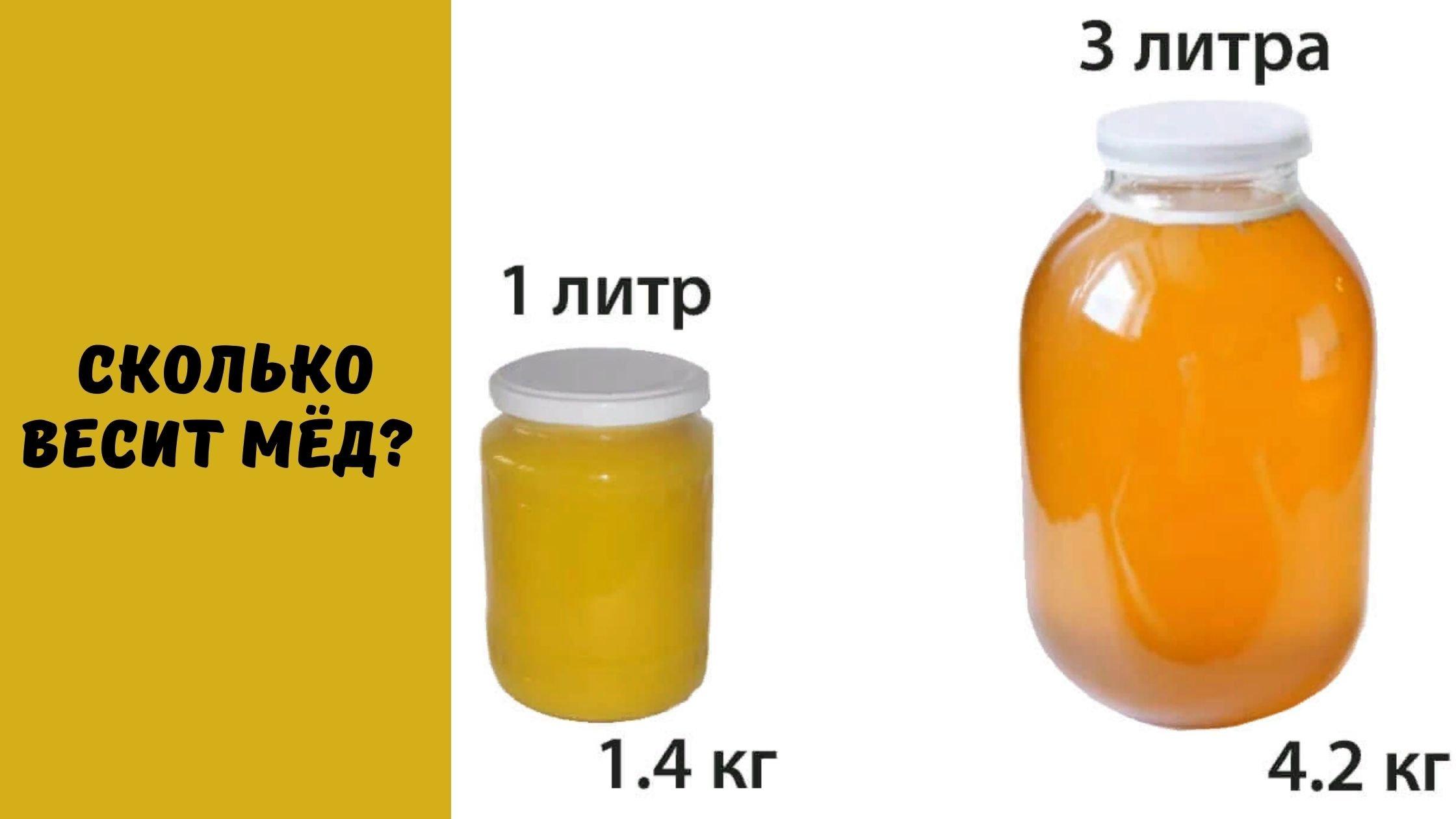 сколько весит мёд