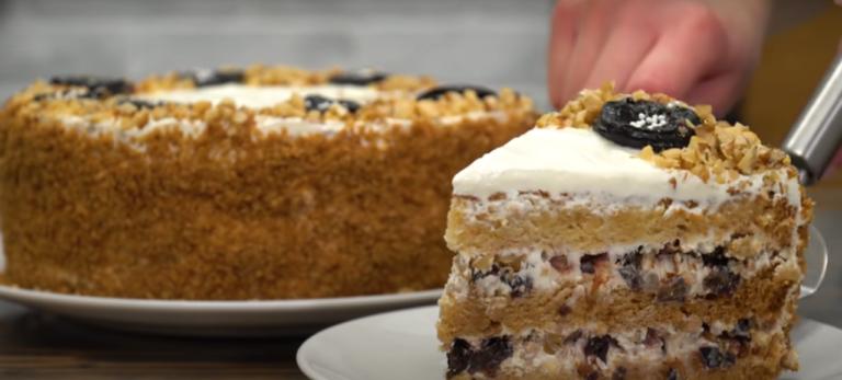 Рецепт бархатный медовый торт