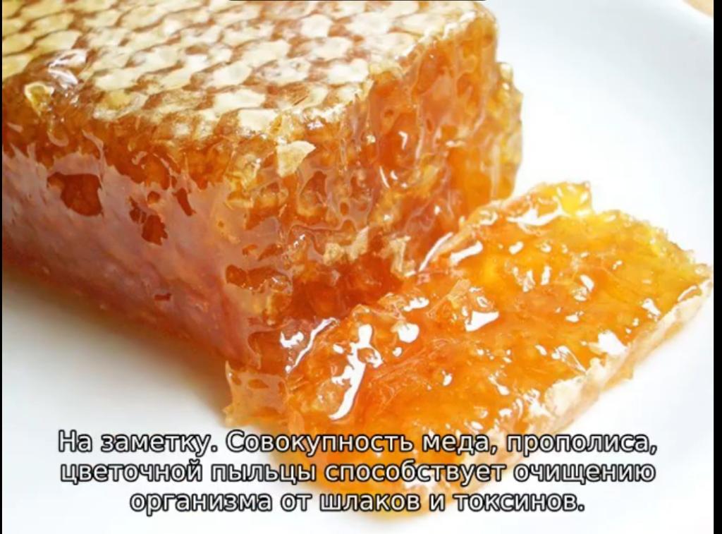 польза мёда в сотах