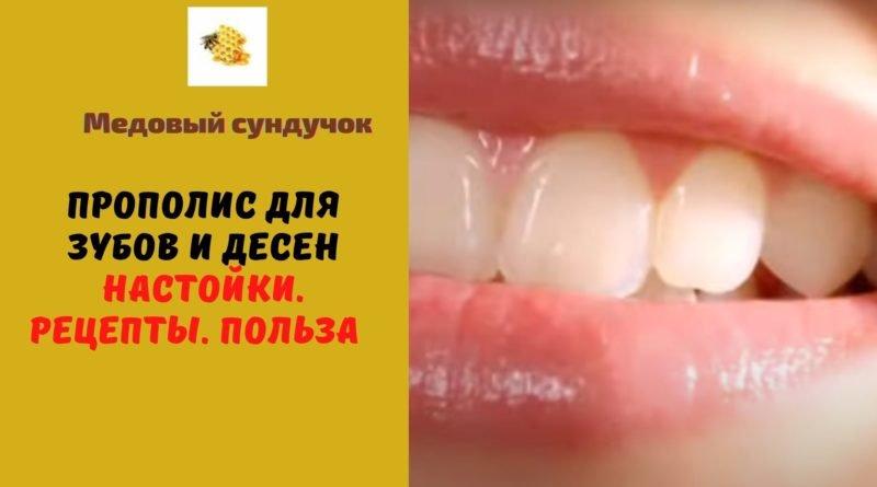 прополис для десен и зубов рецепты