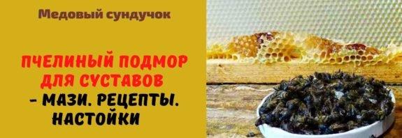 Пчелиный подмор для суставов - Мази. Рецепты. Настойки