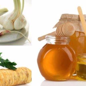 Лук, чеснок, хрен и мед от пневмонии. Пошаговый рецепт.
