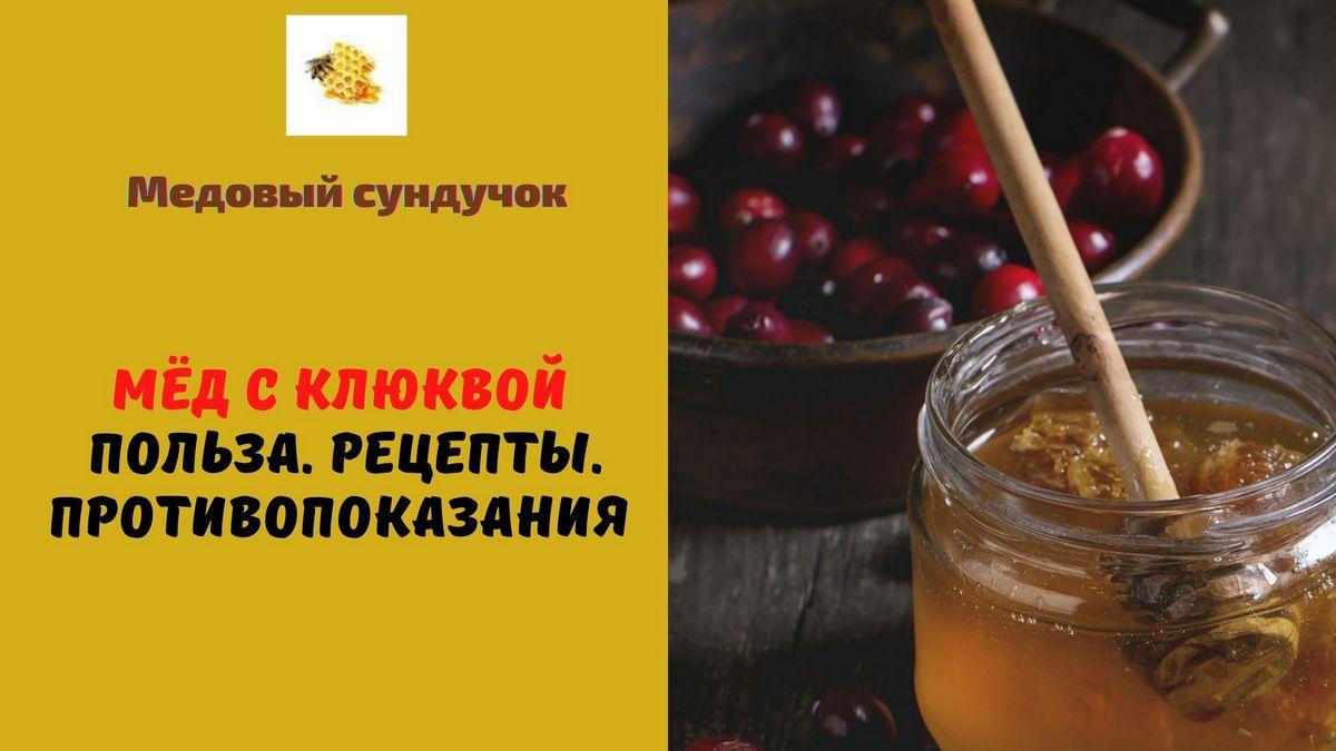 мёд с клюквой польза рецепты
