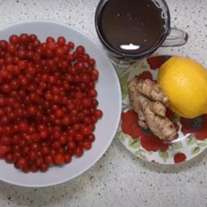 Калина с имбирем и медом. Пошаговый рецепт