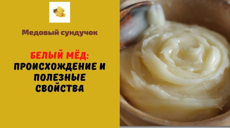 белый мёд полезные свойства