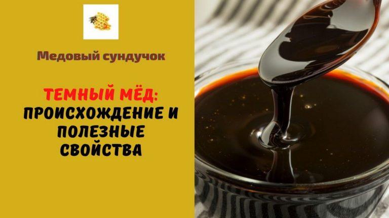 Темный мёд — Сорта. Полезные свойства