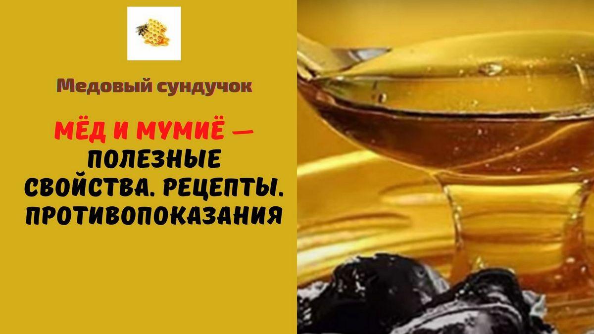 Мёд и мумиё — Полезные свойства. Рецепты. Противопоказания