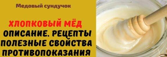 Хлопковый мёд - Описание. Рецепты. Полезные свойства. Противопоказания