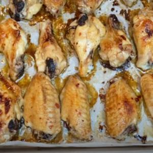 крылышки в медово горчичном соусе