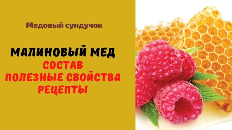 Малиновый мёд: Описание. Полезные свойства. Рецепты. Применение