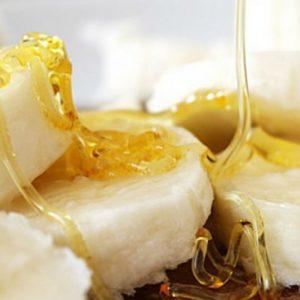 банан с мёдом от кашля