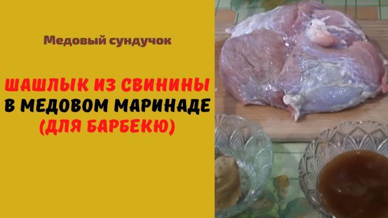 Шашлык из свинины в медовом маринаде (для барбекю)