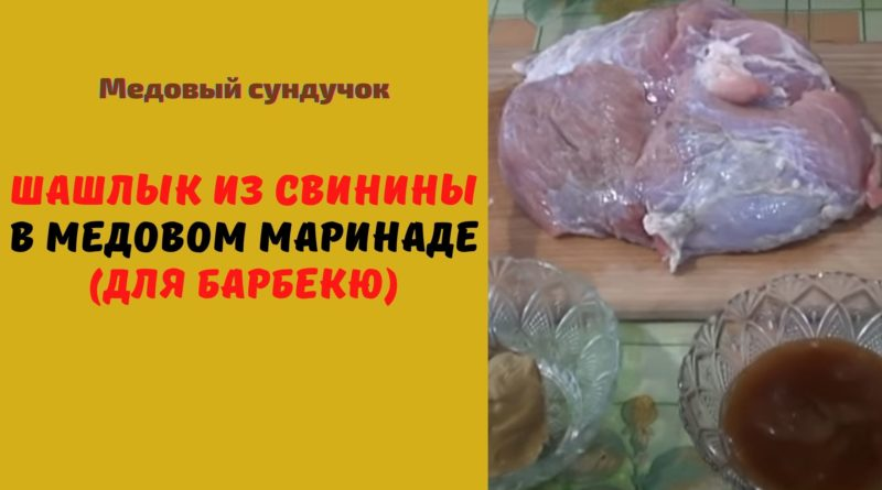 Шашлык из свинины в медовом маринаде